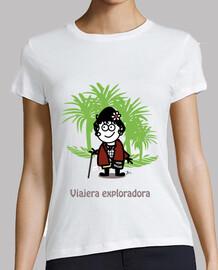 Viajera exploradora-camiseta mujer