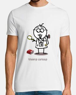 Viajero curioso-camiseta hombre