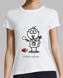 Viajero curioso-camiseta mujer