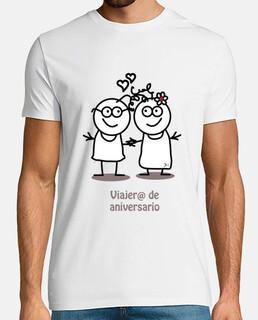 Viajero de aniversario-camiseta hombre