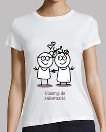 Viajero de aniversario-camiseta mujer