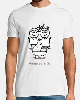 Viajero en familia-camiseta hombre