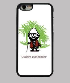 Viajero explorador-Funda iPhone 6, negra