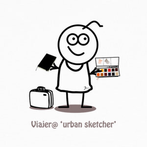 Camisetas Viajero urban sketcher