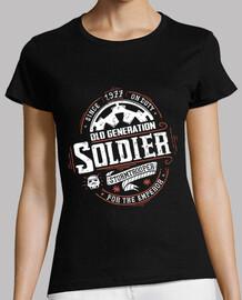 vieux soldat - shirt femme