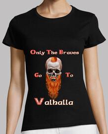 viking skull  Tee shirt femme, noir, qualité supérieure