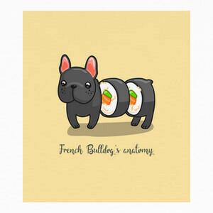 Camisetas Anatomía de un bulldog francés