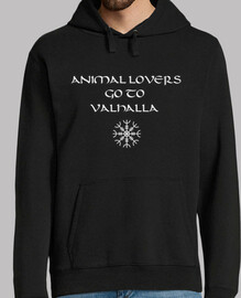 Vikings-Animal Lovers go to Valhalla (sudadera chico)