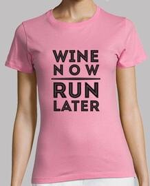 vin maintenant run plus tard.  femme