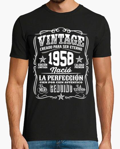 T-shirt vintage 1958 62 compleanno 62 anni