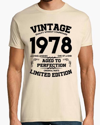 T-shirt vintage 1978 invecchiato alla perfezione originale