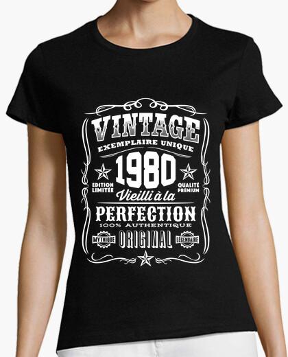 Tee-shirt Vintage 1980 Anniversaire 40 Ans