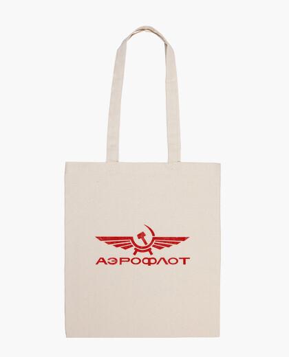 Vintage aeroflot bag