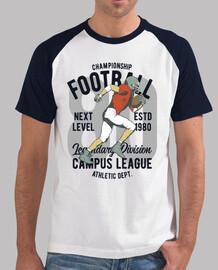 vintage american football t shirt 1980