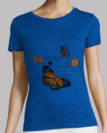 vintage butterfly postcard (shirt girl)