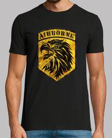 Vintage Emblem Airborne Yellow