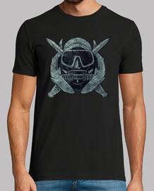 vintage logo us combat diver