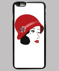 vintage mujer de los años 30 cubre iphone 6 plus