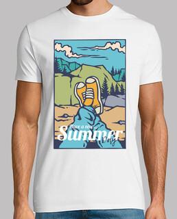 vintage naturgebirgsideengeschenk des retro t-shirt