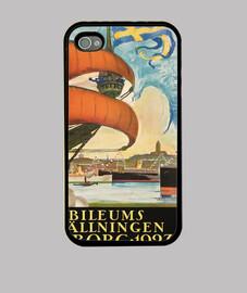 Vintage poster, sailboat