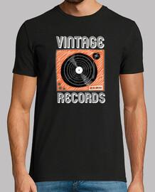 vintage records vinyl turntable illustracion sketch music poster
