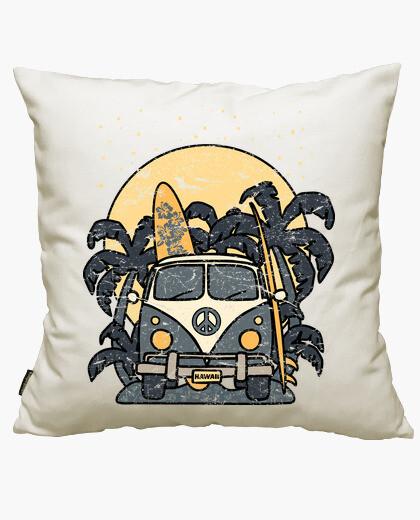 Vintage surf night van cushion cover