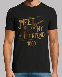 vintage t-shirt uomo armato 1889 cowboy wild west