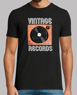 vintage vinyl drehscheibe aufzeichnungen illustration skit musik poster