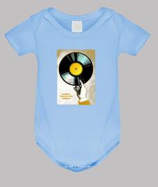 vinyl treasure // baby bodysuit / blue