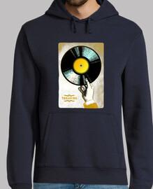VINYL TREASURE // Sweatshirt Homme / Bleu foncé