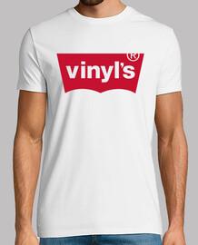 VINYLS Hombre, manga corta, blanco, calidad extra