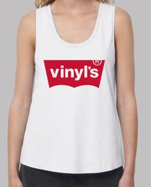 VINYLS Mujer, tirantes anchos & Loose Fit, blanca