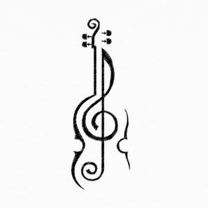 Camisetas Violin negro