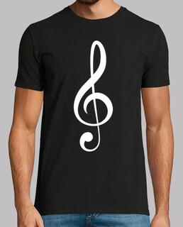 Violinschlüssel (weiß)