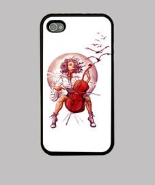 violoncelle  femme  téléphone