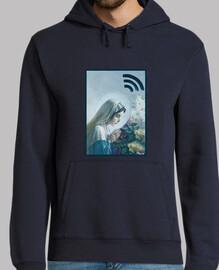 VIRGIN WI-FI // Sweat Shirt Homme / Bleu foncé