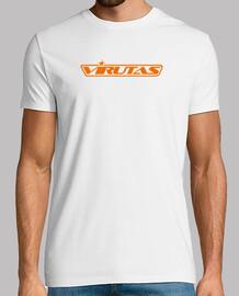 Virucamiseta blanca logo corto naranja