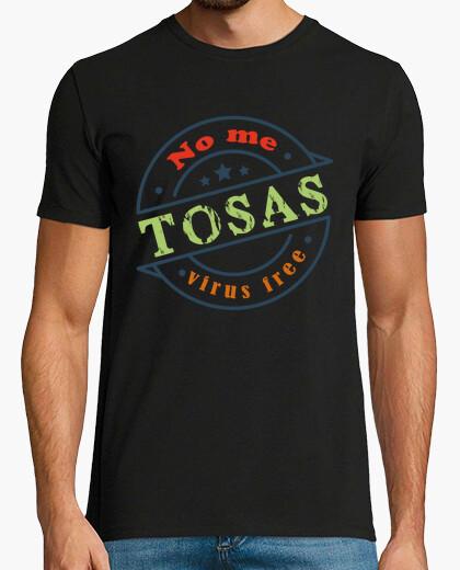 Camiseta virus free no me tosas