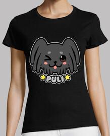 visage de chien kawaii puli - chemise femme