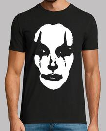 visage de femme de clown sur blanc