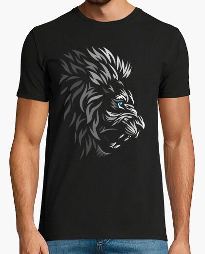 Tee-shirt visage de lion tribal