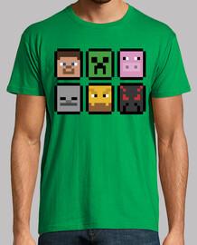 Visages Minecraft