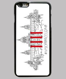 visc a - visca barcelona (mnac) - couverture iphone 6 plus, noir