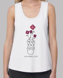 visc a - visca barcelona (pink bcn) - samarreta noia, exemples amb tirants i loose fit (tailles des