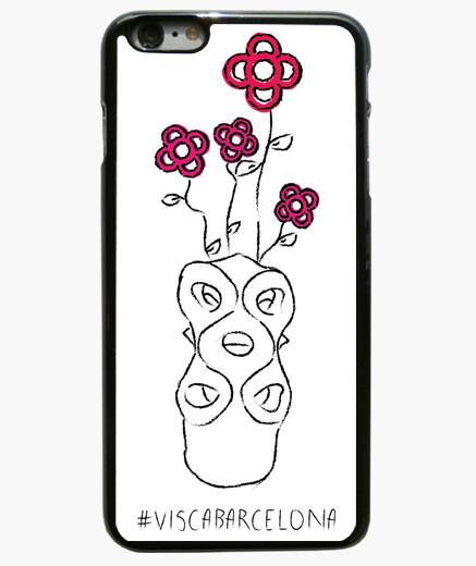 Visc a - Visca Barcelona (rosa bcn) - Funda iPhone 6 Plus / 6S Plus 6 Plus, negra