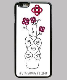 visc un - visca barcellona (rosa bcn) - cover iphone 6 plus, nera
