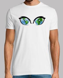 vision écologique du monde, t-shirt blanc