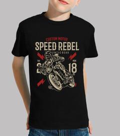 vitesse de motard rebelle