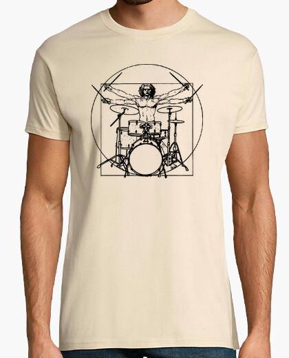 Vitruvian Man Drummer t-shirt