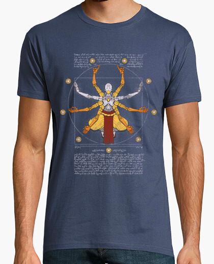 Vitruvian omnic mens shirt navy t-shirt